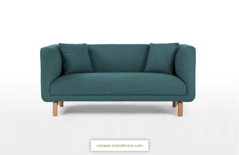 Comparateur de canapé bleu : avis BECCA par Made